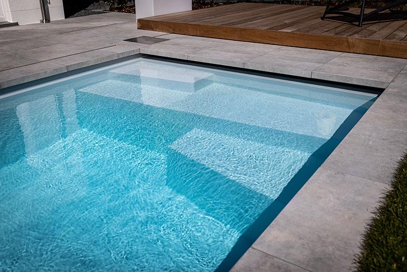 Klein formaat inbouw zwembad