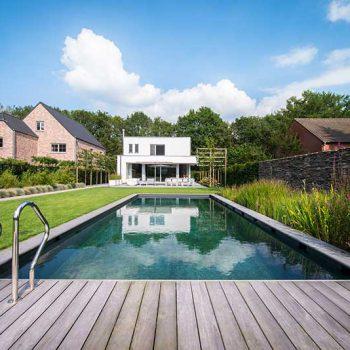 zwembad houten vlonder