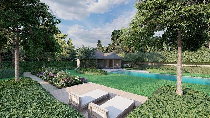 3D-tuin met zwembadontwerp sfeer impressie2