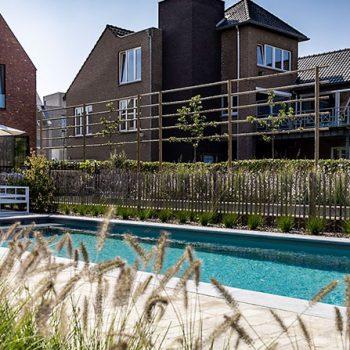 Tuin met zwembad lanaken